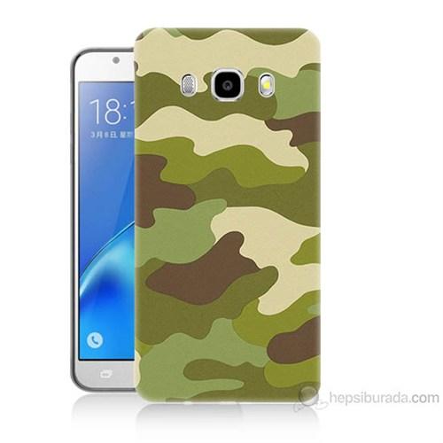 Teknomeg Samsung Galaxy J7 2016 Kapak Kılıf Kamufulaj Baskılı Silikon