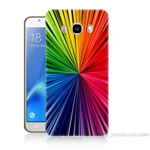 Teknomeg Samsung Galaxy J7 2016 Kapak Kılıf Renkler Baskılı Silikon