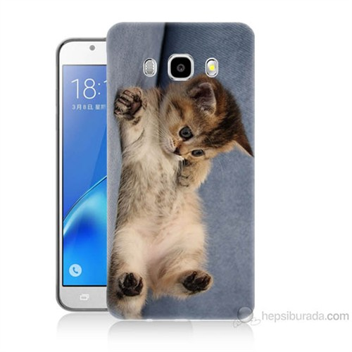 Teknomeg Samsung Galaxy J7 2016 Kapak Kılıf Kedicik Baskılı Silikon