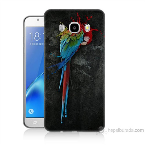 Teknomeg Samsung Galaxy J7 2016 Kapak Kılıf Papağan Baskılı Silikon