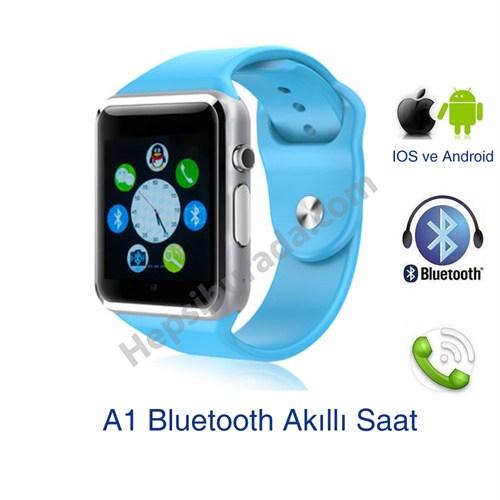 Case 4U Samsung iPhone Sony LG HTC A1 Akıllı Saat Mavi (IOS ve Android Uyumlu)