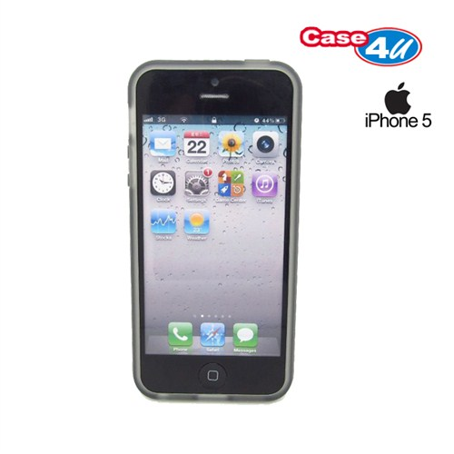 Case 4U Apple iPhone 5/5s Siyah Tpu Kılıf - Siyah