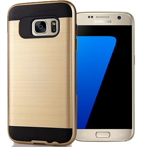 Coverzone Samsung Galaxy S7 Kılıf Antişok Darbe Koruma Sert + Kırılmaz Cam