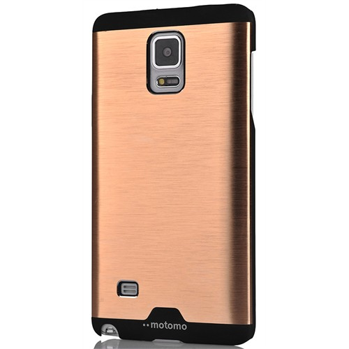 Coverzone Samsung Galaxy Note 4 Kılıf Metalik Arka Kapak