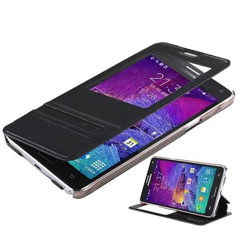 Coverzone Samsung Galaxy Note 4 Kılıf My Sight Pencereli