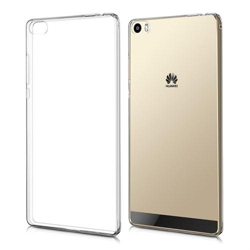 Coverzone Huaweip8 Max Kılıf Silikon ,3 Mm + Kırılmaz Cam Şeffaf