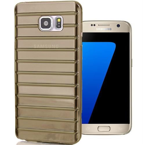 Coverzone Samsung Galaxy S7 Kılıf Flexible Silikon + Kırılmaz Cam