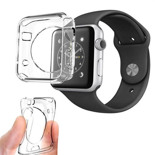 Coverzone Apple Watch 38 Mm Kılıf Silikon Tpu Koruma + Kırılmaz Cam