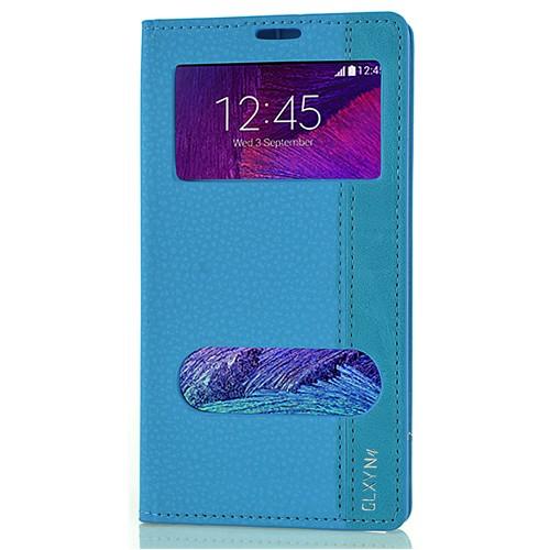 Coverzone Samsung Galaxy Note 4 Kılıf Milano Pencereli Kapaklı