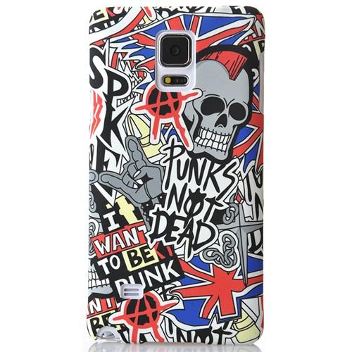 Coverzone Samsung Galaxy Note 4 Kılıf Sert Arka Kapak Punks Not Dead