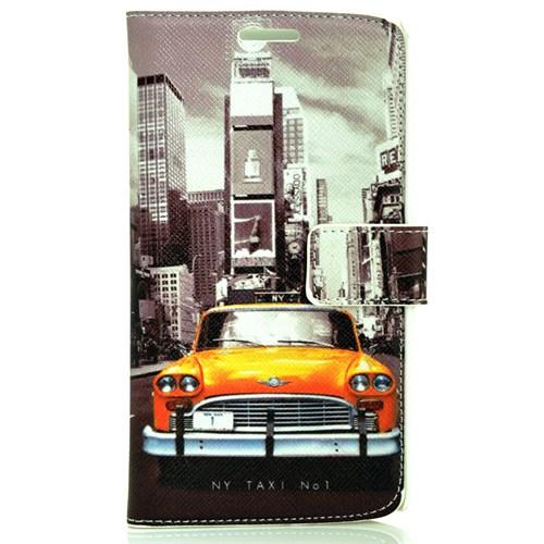 Coverzone Lg G3 Kılıf Resimli Dekoratif Kapaklı New York Taksi