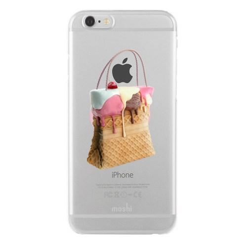 Remeto iPhone 6/6S Şeffaf Transparan Silikon Resimli Dondurma Tasarımlı Çanta