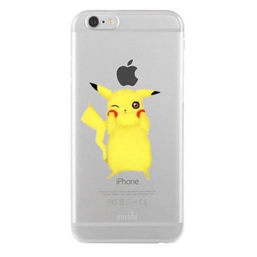 Remeto iPhone 6/6S Şeffaf Transparan Silikon Resimli Pikachu Tasarımlı