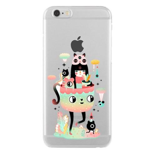 Remeto iPhone 6/6S Şeffaf Transparan Silikon Resimli Girls Tasarımlı