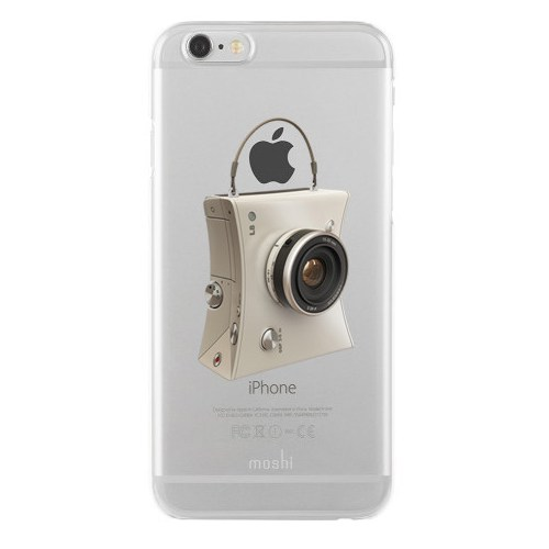 Remeto iPhone 6/6S Şeffaf Transparan Silikon Resimli Kamera Tasarımlı