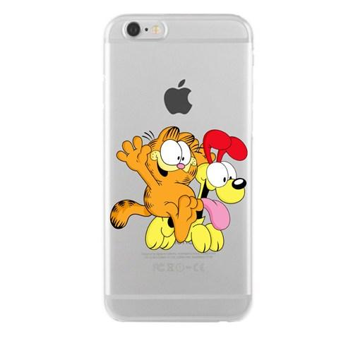 Remeto iPhone 6/6S Şeffaf Transparan Silikon Resimli Garfield Ve Odie