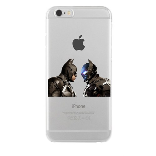 Remeto iPhone 6/6S Şeffaf Transparan Silikon Resimli Batman