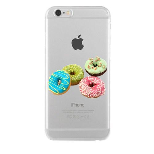 Remeto iPhone 6/6S Şeffaf Transparan Silikon Resimli Donut