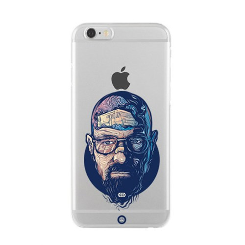 Remeto iPhone 6/6S Şeffaf Transparan Silikon Resimli Breaking Bad Apple