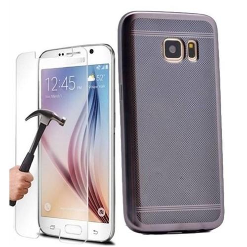 Kılıfshop Samsung Galaxy S7 Strom Silikon Kılıf (Siyah) + Kırılmaz Cam Ekran Koruyucu