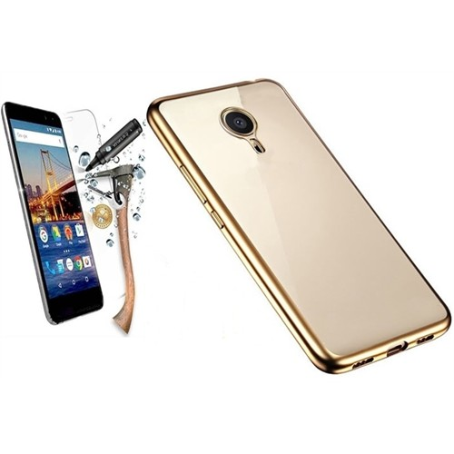 Kılıfshop General Mobile Gm5 Plus Lazer Silikon Kılıf (Gold)