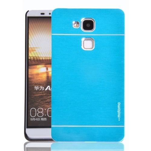 Kılıfshop Huawei Gr5 Metal Motomo Kılıf (Mavi) + Kırılmaz Cam Ekran Koruyucu