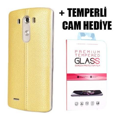 Coverzone Lg G4c Dikişli Silikon Kılıf + Temperli Cam