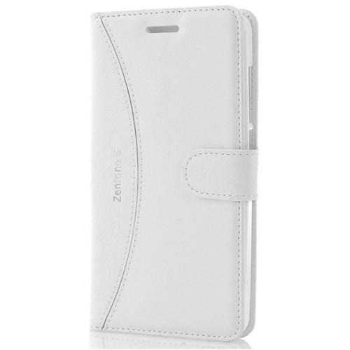 Coverzone Asus Zenfone 5 Lite Kılıf Cüzdan Kart Gözlü + Temperli Cam