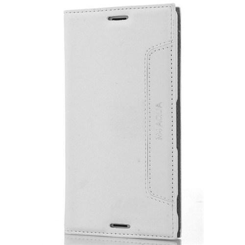 Coverzone Sony Xperia M4 Aqua Kılıf Kapaklı Lotus + Temperli Cam