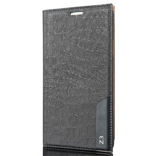 Coverzone Sony Xperia Z3 Kılıf Rock Kapaklı + Temperli Cam