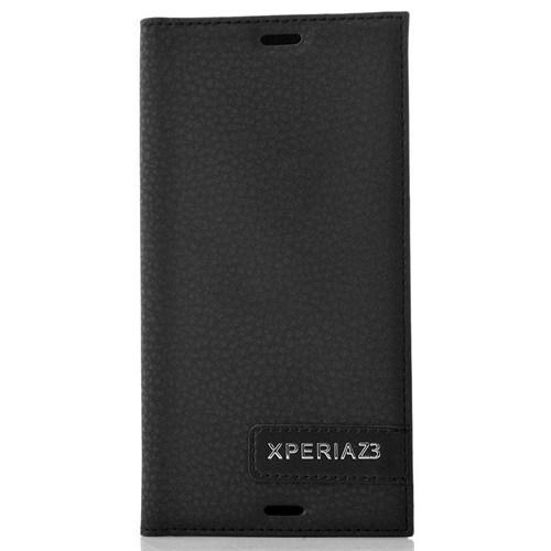 Coverzone Sony Xperia Z3 Kılıf Safir Flip Kapaklı + Temperli Cam