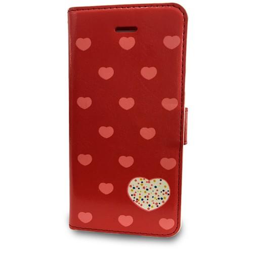 Coverzone Apple İphone 5/5S/Se Kılıf Kapaklı Kalpli