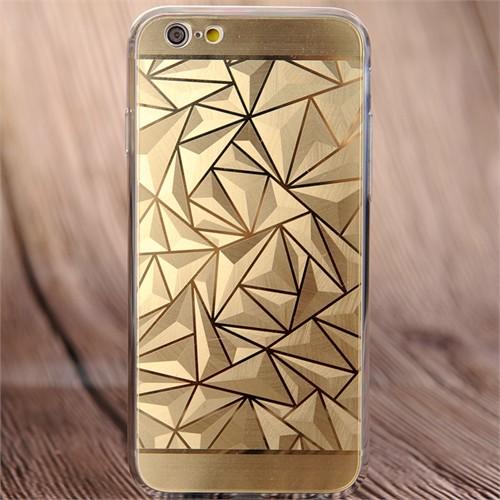 Coverzone Apple İphone 6/6S Kılıf Silikon Prizma Desen