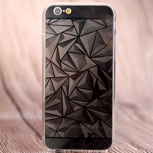 Coverzone Apple İphone 6 Plus/6S Plus Kılıf Silikon Prizma Desen