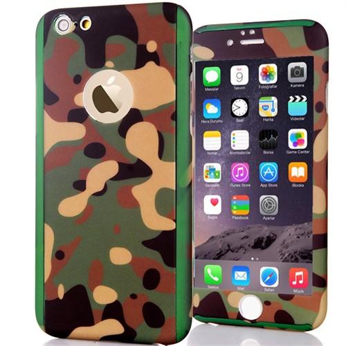 Coverzone Apple iPhone 6 - 6S Kılıf 360° Derece Full Koruma Camlı