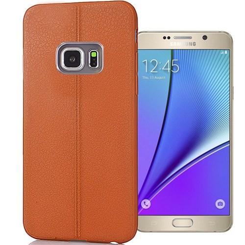 Coverzone Samsung Galaxy Note 5 Kılıf Deri Silikon