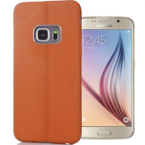 Coverzone Samsung Galaxy S6 Kılıf Deri Dizayn Silikon