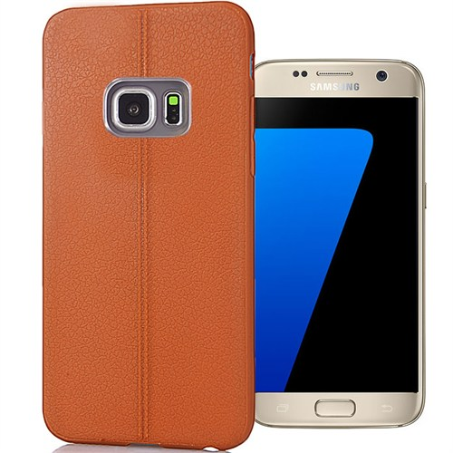 Coverzone Samsung Galaxy S7 Edge Kılıf Deri Silikon