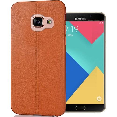 Coverzone Samsung Galaxy A9 Kılıf 2016 Deri Silikon