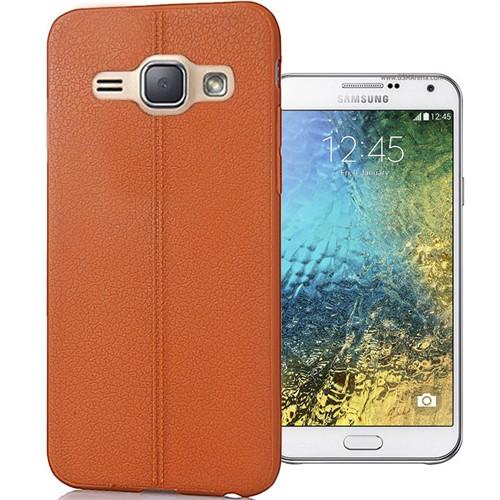 Coverzone Samsung Galaxy E7 Kılıf Deri Silikon