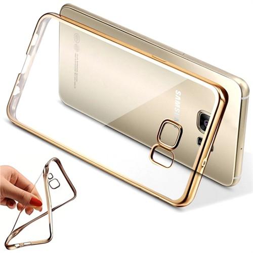 Coverzone Samsung Galaxy Note 2 Kılıf Silikon Kenarı Renkli Transparan