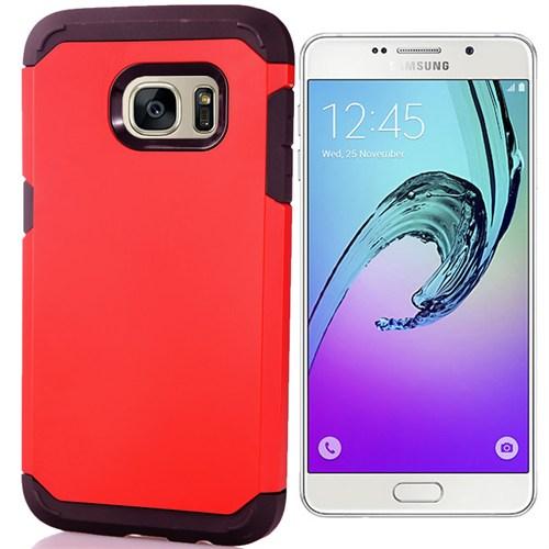 Coverzone Samsung Galaxy A7 Kılıf 2016 A710 Çift Katmanlı Sert