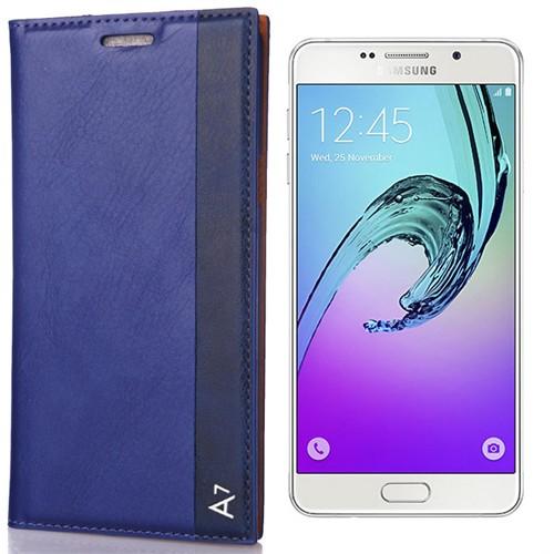 Coverzone Samsung Galaxy A7 Kılıf 2016 A710 Milano Deri Kapaklı