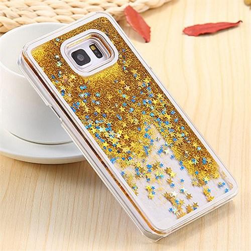 Coverzone Samsung Galaxy Note 5 Kılıf Simli Sert + Kırılmaz Cam