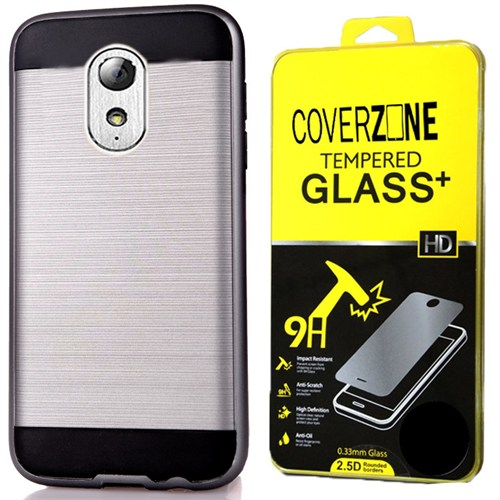 Coverzone General Mobile Gm5 Plus Kılıf Sert Darbe Korumalı + Kırılmaz Cam