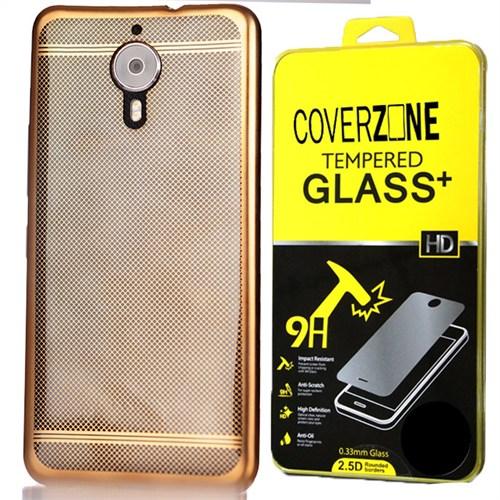 Coverzone General Mobile Gm5 Plus Kılıf Dot Lux Silikon + Kırılmaz Cam
