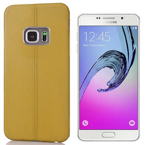 Coverzone Samsung Galaxya3 Kılıf 2016 A510 Deri Görünümlü Silikon