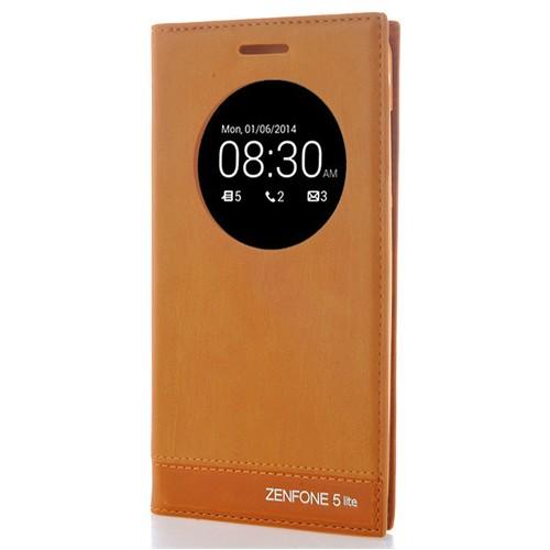 Coverzone Asus Zenfone 5 Lite Kılıf Pencere Kapaklı Milano