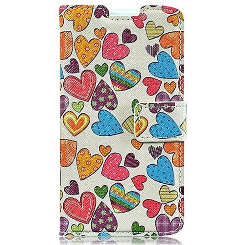 Coverzone Casper Via V4 Kılıf Kapaklı Resimli Renkli Kalpler