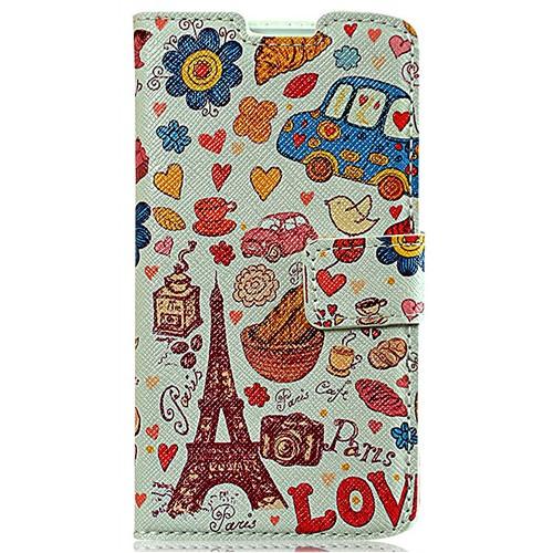 Coverzone Casper Via V4 Kılıf Kapaklı Resimli Paris Eyfel Kulesi